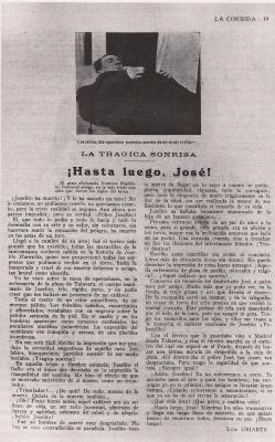 TRÁGICA MUERTE DE JOSELITO EL GALLO